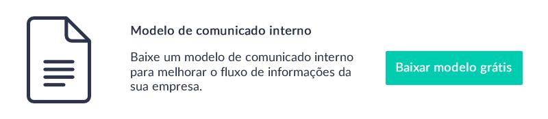 Baixe o modelo de comunicado interno