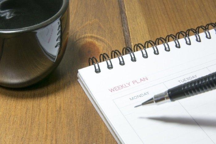 Como montar cronograma de atividades diárias