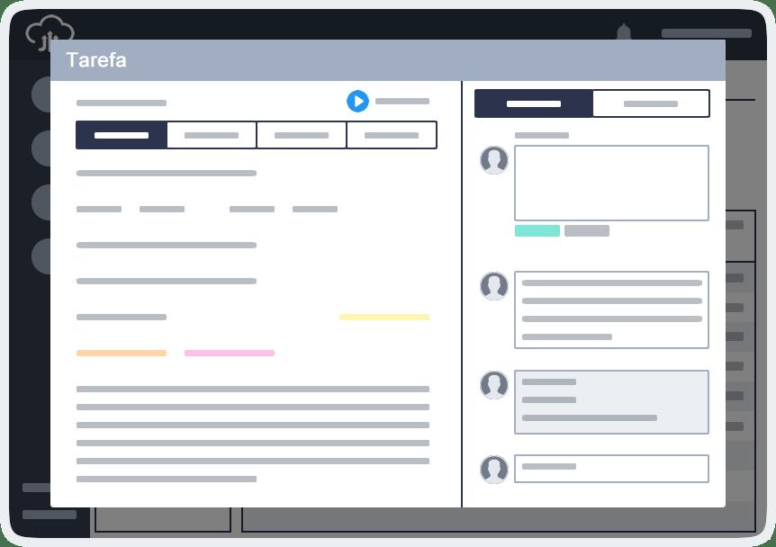 Desconto sistema de gestão de projetos online visualizar tarefa