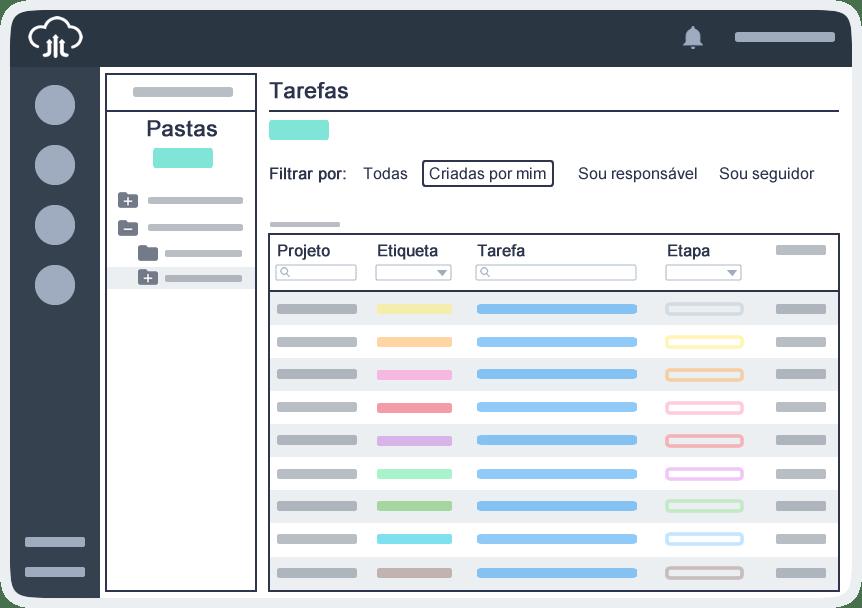 Gestão de atividades e tarefas online listagem