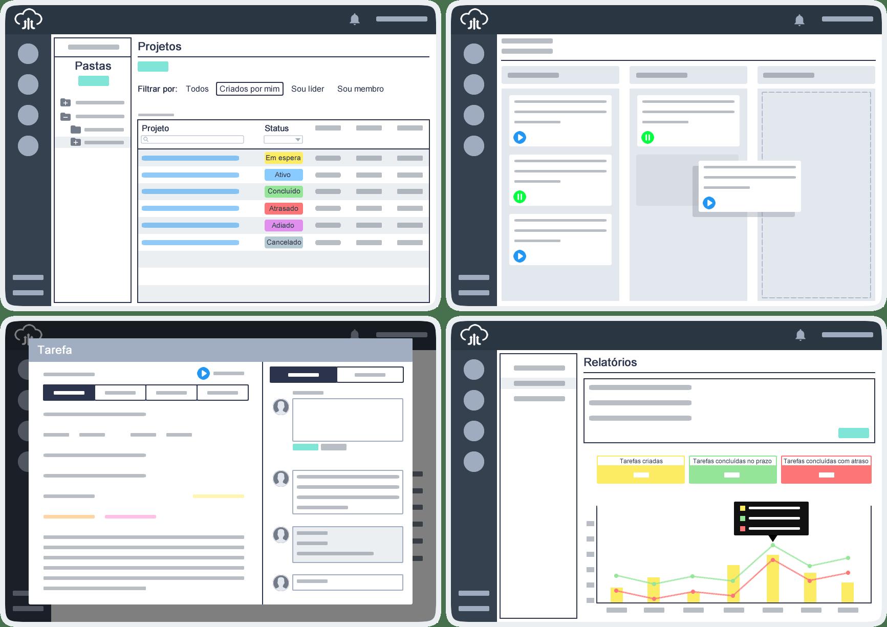 Software de gerenciamento de projetos Intranett